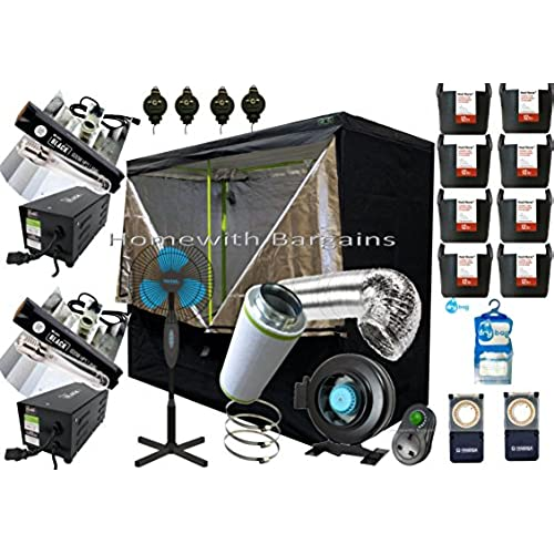 Best Complete Grow Room Full Setup 2.4 x 1.2 x 2m Grow Tent 6  In-Line Fan Carbon Filter 2 x 600w PRO Light Kit  sc 1 st  Amazon UK & Complete Grow Tent Kit: Amazon.co.uk