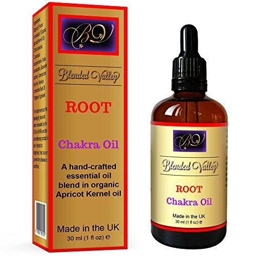 Chakra Oil ROOT - Essential Oils of Frankincense, Myrrh, Orange in Apricot Kernel Oil. Use with Aroma Diffuser, Burner, on Salt Lamp, Bracelet, Necklace, Stones, Crystals During Yoga or Meditation.