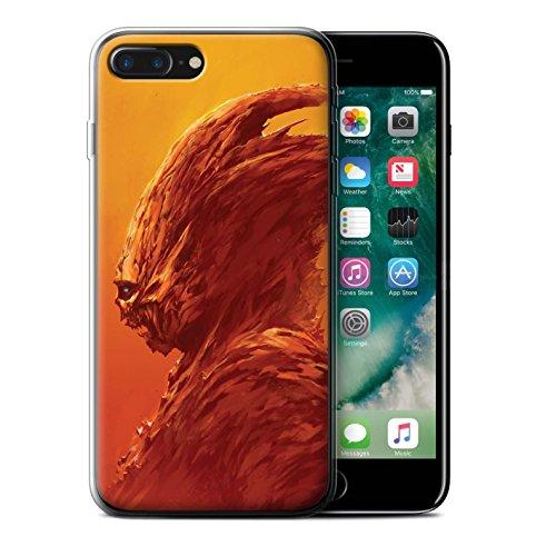 Offiziell Chris Cold Hülle / Gel TPU Case für Apple iPhone 7 Plus / Teufel/Tier Muster / Wilden Kreaturen Kollektion Raubtier/Jäger