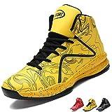 LANSEYAOJI Hombre Zapatillas de Baloncesto Calzado Deportivo Al Aire Libre Moda High-Top Sneaker...