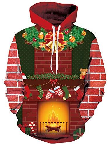 Loveternal Fleisch Design 3D Druckt Kapuzenpullover Langarm Fleece Pullover Hoodies Sweatshirt für Teen Jungen Mädchen L/XL