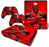 #2: Elton Dead-pool King Red 3M Skin Decal Sticker For X Box One X Console & Two Controllers