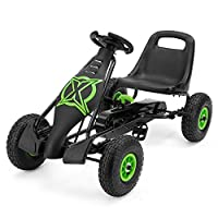 Xootz Viper Racing Go Kart, Kids Ride On Pedal Car with Gear Stick and Handbrake