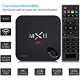 Quad Core TV box Android 5.1 de VicTsing MX3 1080P Fully Loaded KODI Wifi (XBMC) 2G RAM + 8G ROM 2.4G / 5G de doble banda