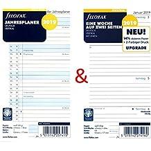 Filofax Kalendereinlage Set Personal: Eine Woche auf zwei Seiten vertikal mit Linien und Jahresplaner 2019