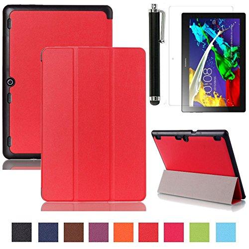 lenovo-tab-2-a10-30-case-rouge-ultra-mince-etui-en-cuir-smart-cover-case-avec-coque-arriere-pour-tab