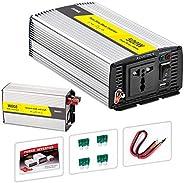 عاكس كهربائي للموجة الجيبية النقية ومحول للسيارة من تيار مستمر 12 فولت/24 فولت إلى تيار متردد 220 فولت، مزود ب