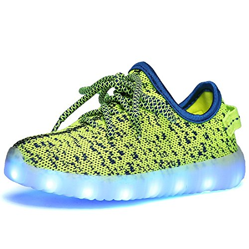 Kinder Laden Laufschuhe Eu jojo Sneakers Farbe Kokosnuss Outdoor Led Für Blinken Unisex Grüne Neue Mode jayce 37 25 Usb 6vwqAfw
