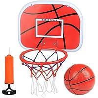 FOCCTS 5PCS Mini Canasta Tablero Colgante de Baloncesto Montado Aro / Borde con Bola y Bomba Para la Interacción Padre-Hijo, Oficina Para Interiores y Exteriores
