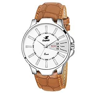 Espoir Analog White Dial Men's Watch – ES133