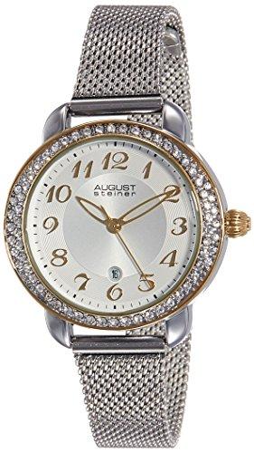 August Steiner Reloj de cuarzo Woman AS8192SSG Plateado / Dorado 32 mm