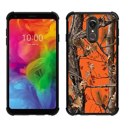 LG Q7 Hülle, LG Q7 Plus Hülle, ABLOOMBOX Stoßdämpfung, weiche Stoßdämpfung, dünne Gummi-Schutzhülle mit verstärkten Ecken für LG Q7 / Q7 Plus / Q7 Alpha, Hunting Camo Camouflage Summer Tree Pattern