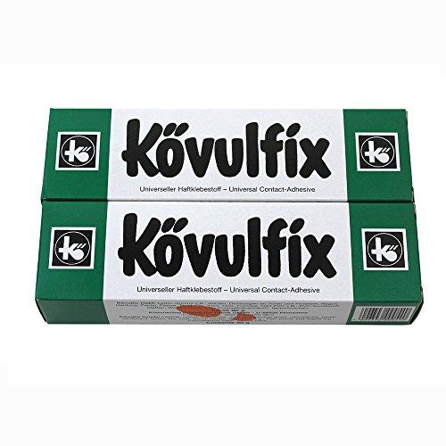 Koevulfix Rekord 90 g, 2 Tuben Kontakt Klebeband Kleber für alle Zwecke, aus Gummi, für Schuhe Filz-Pinnwand aus Kork und mehr. Hochwertiges Produkt made in Germany!!!