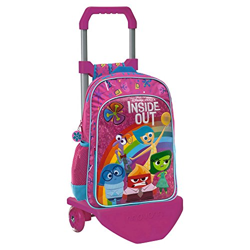 Imagen de disney inside out  escolar con carro, color rosa, 19.2 litros