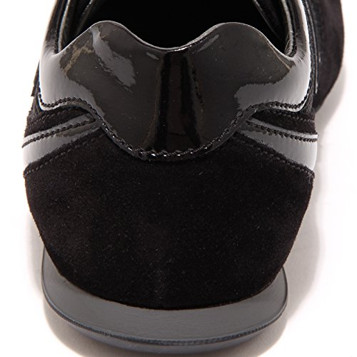 76594 sneaker HOGAN OLYMPIA SLASH FLOCK VITNAGE scarpa uomo shoes men Nero