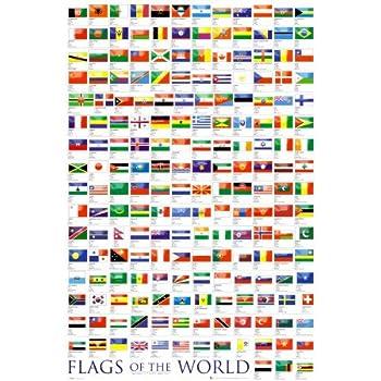 1art1 48817 Poster Drapeaux Drapeaux Du Monde 2010 91 X 61 cm