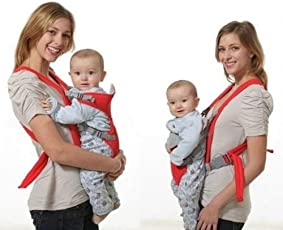 Toyboy Baby Carrier 1 Pc Adjustable Hands-Free 4-in-1 with Comfortable Head Support - Red