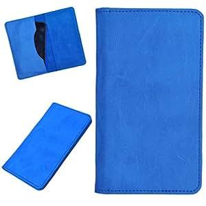 DCR Pu Leather case cover for Intex Aqua Style (sky blue)