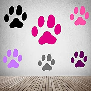 Aufkleber Hunde Pfoten Dekoration Wandtattoo Möbel Aufkleber Autoaufkleber Größe 3 cm -10cm Durchmesser