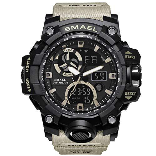 Herren Digitale Armbanduhr, Armbanduhr Sportuhr 50 Meter Wasserdicht Uhr Digital Led Alarm Kalender Uhren Watches Mit Timer-, Stoppuhr- Und Weckerfunktionen FüR Herren MäNner Damen