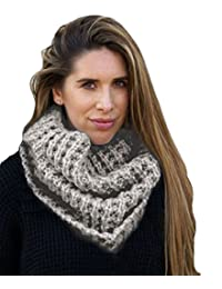 Ladies Soft Chunky Brushed Mohair look cable snood