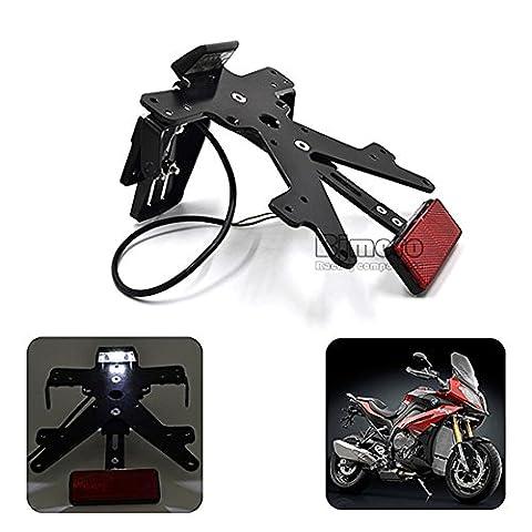 BJ Global Conversion de moto scooter cyclomoteur en aluminium licence Cadre de plaque d'immatriculation support pour Kawasaki Z800201320142015