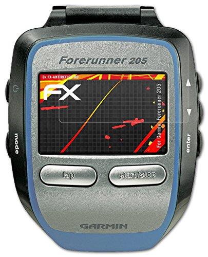 garmin-forerunner-205-protezione-pellicola-dello-schermo-3-x-atfolix-fx-antireflex-hd-ad-alta-risolu