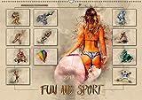 Fun and Sport (Wandkalender 2018 DIN A2 quer): Fun und Sport, voll im Trend. (Monatskalender, 14 Seiten ) (CALVENDO Sport) [Kalender] [Jan 17, 2017] Roder, Peter