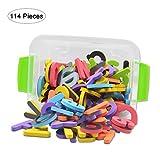 3D magnetisch EVA-Schaum englischen Buchstaben Kühlschrank–26Stück Großbuchstaben und 104Stück Kleinbuchstaben für Kinder Educational Werkzeuge und Spielzeug