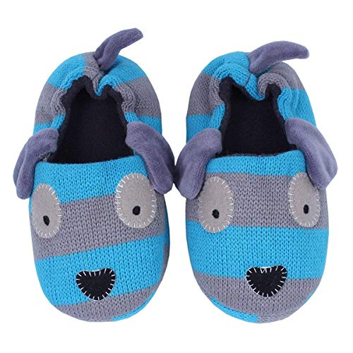 Ksnrang Boys Winter Toddler Doggy Slippers Cartoon Puppy Crochet Non-Slip Warm Indoor Home Shoes