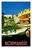Vintage Travel Poster Tin Sign of Retro Normandie Normandy,
