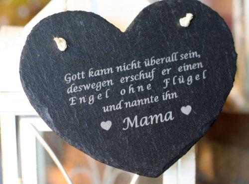 condecoro Schiefer Mama Spruch Muttertag Geburtstag Geschenk Mutter Herz