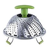 Cestello per vaporiere in acciaio inossidabile, piroscafo pieghevole regolabile Pentola a pressione pentola istantanea sicura -Adatta a varie dimensioni di pentole Pentole per cucinare verdure e alimenti