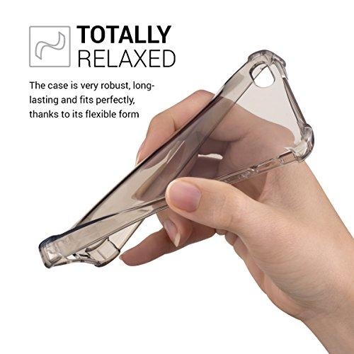 kwmobile Étui transparent pour Apple iPhone SE / 5 / 5S étui en silicone TPU avec protection des coins - étui fin transparent pour smartphone protection cover en noir transparent .noir transparent