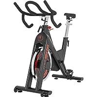 Preisvergleich für GORILLA SPORTS® Indoor Cycling Bike mit 18 kg Schwungrad – Profi-Heimtrainer Fahrrad mit Tretlager F50x100 bis 150 kg belastbar
