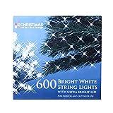 The Christmas Workshop 600 LED String Lights, Bright White