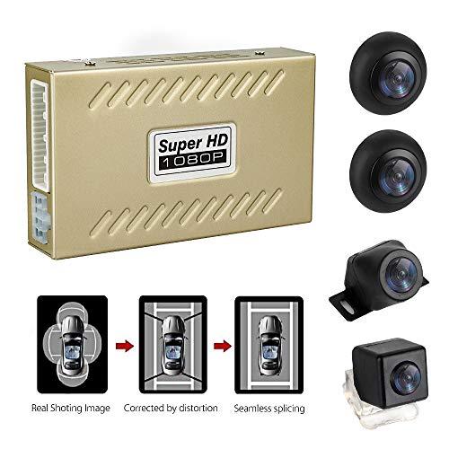 MiCarBa Universal 1080P 360-Grad-Panoramakamera, Einfassung aus der Vogelperspektive Parksystem mit G-Sensor-Aufzeichnung Autokamera Rundum wasserdichte Rückfahrkamera