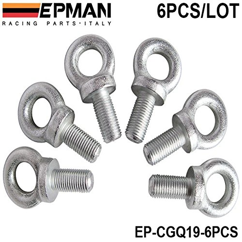 EPMAN Sitztrapez Augenschrauben Gr??e: 16.7 Set 6PCS F¨¹r Racing Seat Sicherheitsgurt-Kabelstrang EP-CGQ19-6PCS