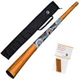 Australian Treasures - Didgeridoo \'\'natural paint\'\' + cire d\'abeille + sac de didgeridoo