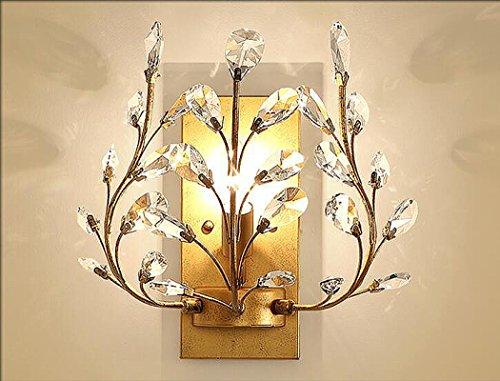 American Crystal Wandleuchte europäischen Wohnzimmer Schlafzimmer Nachtwand Wandleuchte kreative retro Eisen Kerze Kristall Lampe,a2