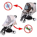 Universal Kinderwagen Regenschutz für Buggy Babywannen, Universal Kinderwagen Mückennetz, Komfort und Kein Geruch, Gute Luftzirkulation, Schadstofffrei.(Schwarz)