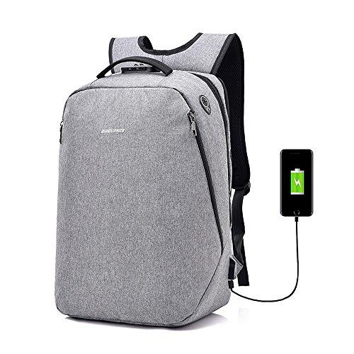 quality design 9a93e e065c Diebstahlsicherer wasserdichter Laptop-Rucksack, breathable Polyester mit  USB, der Schnittstelle.
