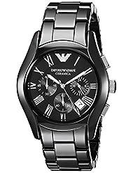 Emporio Armani AR1400 Gents Black Ceramic Round Black Dial Chronograph Watch