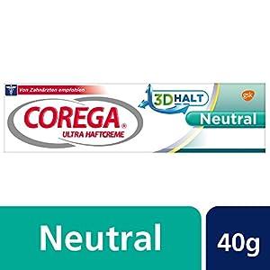 COREGA Ultra Haftcreme Neutral für Zahnersatz/dritte Zähne, 6x40g (6er Pack), geschmacksneutral