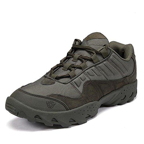 Chaussures de randonnée militaires extérieures tissu de nylon imperméable et respirant semelles en caoutchouc résistantes et antidérapantes chaussures de sport tactique de mode