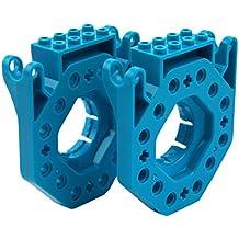 Wonder Workshop - Adaptadores de LEGO para sus robots educativos Dash y Dot, color azul (BB01)