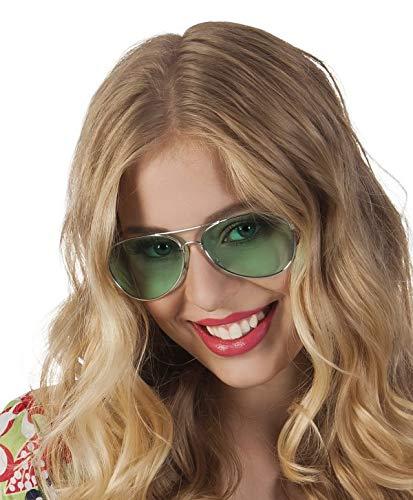 Sonnenbrille Kostüm Flieger - TH-MP Pilotenbrille 70er 80er Jahre Sonnenbrille Unisex Fliegerbrille Kostüm Zubehör Accessoire