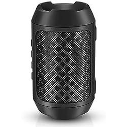 Enceinte Bluetooth Portable, 8W Enceintes Portable Haut-Parleur Bluetooth 4.2 sans Fil, avec Son 360°, Basse Améliorée, Carte TF, Mains Libres, Etanche, 12 Heures d'autonomie pour Gym/Jogging