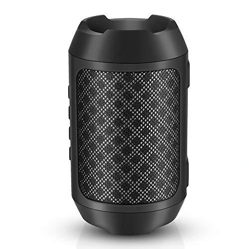 Bluetooth Lautsprecher, Mini Musikbox Bluetooth 4.2 Kabelloser Tragbarer Lautsprecher mit HD Audio & Multifunktions (FM Radio, 3,5 mm Audio, Micro SD Karte Slot, Mikrofon) Schwarz