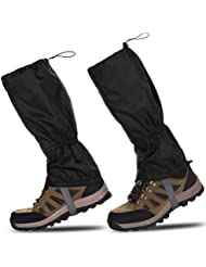 a9cbc159889 HenMerry 1 Pair Black Outdoor Hiking Walking Climbing Snow Legging  Waterproof Gaiters